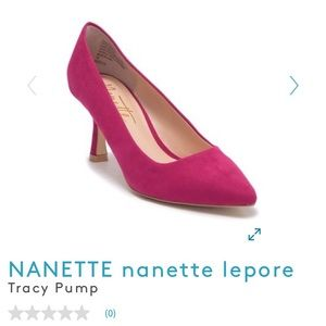 Nanette Lepore Tracy Pump Hot Pink Suede 6M